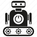 android, artificial intelligence, auto, humanoid, mascot, robot icon