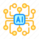 artificial, digital, intelligence, robot, scheme, system
