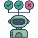robot, decision