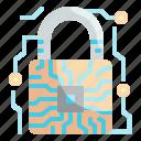 lock, padlock, server, security, technology