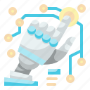 robot, hand, robotics, technology, artificial