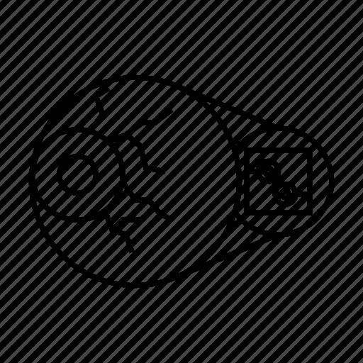eye, eye ball, scan, security, sensor, tech, technology icon