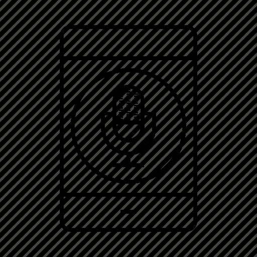 mic, mobile, phone, record, sound icon