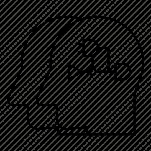 Cyber Diagram Diode Head Logic Robot Transistor Icon