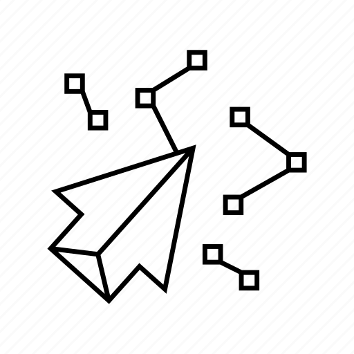arrow, click, connect, dot, link, network, tech icon