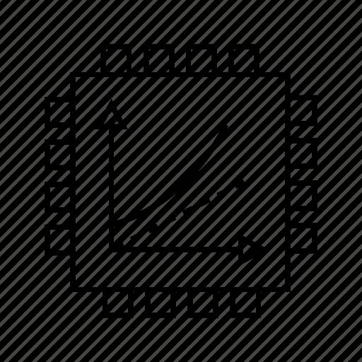 chip, device, microchip, processor, silicon icon