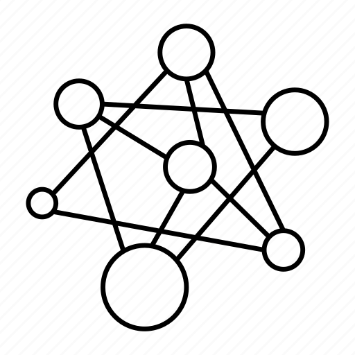atom, chemistry, connection, link, molecule, structure icon