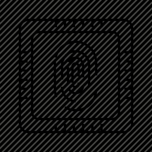 digital, finger, microchip, processor, scan, security, sensor icon