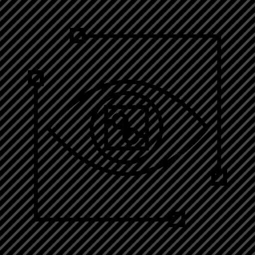 eye scan, microchip, protection, scan, security, sensor icon