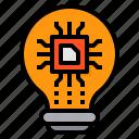 artificial, future, inovation, intelligence, machine, technology icon