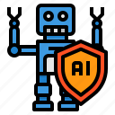 artificial, future, intelligence, machine, privacy, technology icon