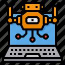 artificial, future, intelligence, machine, robot, technology icon
