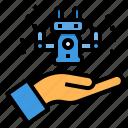 artificial, future, intelligence, machine, technology icon
