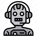 artificial, assistance, future, intelligence, machine, technology icon