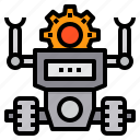 artificial, future, machine, process, robotic, technology icon