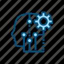 artificial, intelligence, ai, brain, head, settings