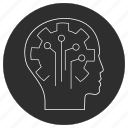 artificial, brain, circuit, intelligence icon