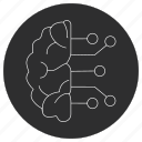 artificial, brain, ic, intelligence icon
