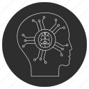 artificial, brain, intelligence, robo icon