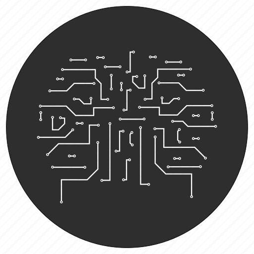 artificial, circuit, ic, intelligence icon