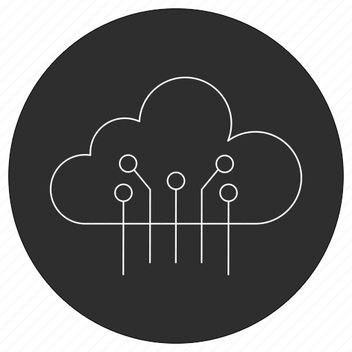 artificial, cloud, intelligence icon