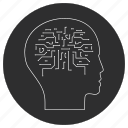 artificial, brain, intelligence, robot icon