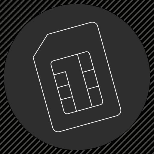 artificial, card, intelligence, sim icon