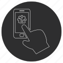 artificial, intelligence, smartphone icon