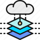 artificial, chip, cloud, data, database, intelligence, server icon