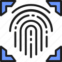 cryptographic, finger, fingerprint, identity, intelligence, scanner, signature icon