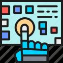 arm, chip, digital, future, intelligence, pressed, robot icon