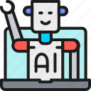 artificial, chatbot, chip, customer, intelligence, robot, service icon
