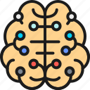 artificial, board, brain, circuit, connected, digital, intelligence icon