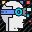 artificial, degree, helmet, intelligence, reality, robot, virtual icon