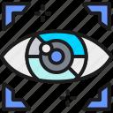 artificial, cyber, eye, intelligence, network, spy, surveillance icon