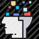 board, brain, circuit, head, intelligence, robot, thinking icon