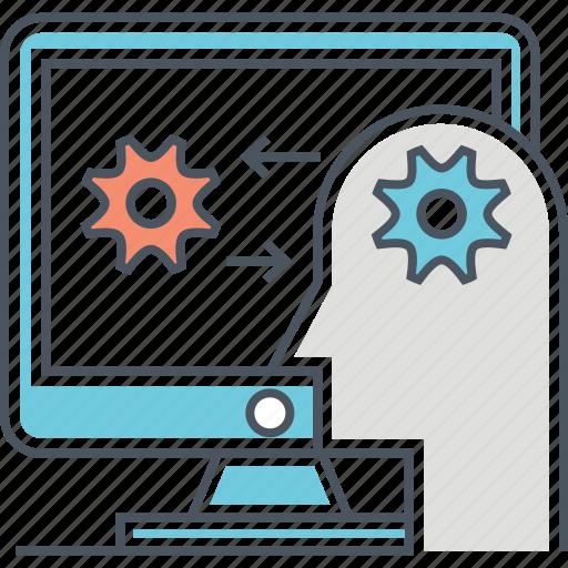 computer, human, human computer interaction, interaction icon