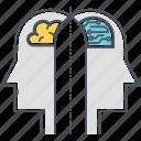 ai, artificial intelligence, human, human vs ai icon