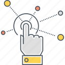 finger, hand, interact, interaction, interactive, touch icon