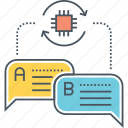 auto translate, language, natural, processing, translation icon