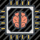 brain chip, chip, microchip, processor, super intelligence, superintelligence icon