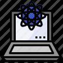 analysis, analytics, atom, computer, data, education, science