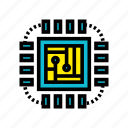 artificial, circuit, intelligence, machine, robotic, technology icon