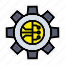 artificial, gear, intelligence, machine, robotic, technology icon