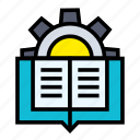 artificial, handbook, intelligence, machine, robotic, technology icon