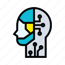 artificial, human, intelligence, machine, robotic, technology icon