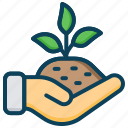 agriculture, farming, growth, plant, soil restoration icon
