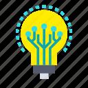 artificial, bulb, intelligence, machine, robotic, technology