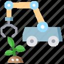 agriculture robots, ai, artificial intelligence, smart farm icon