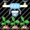 agriculture, ai, artificial intelligence, drone, smart farm icon